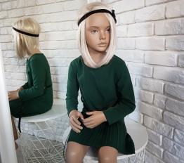 Sukienka elegancka Młoda Dama butelkowa zieleń