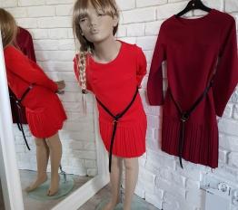 Sukienka elegancka Młoda Dama czerwień
