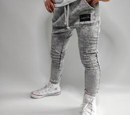Spodnie Despacito dekatyzowane classic szare