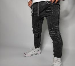 Spodnie Despacito dekatyzowane classic czarne