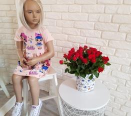Sukienka LOL brzoskwinia typ 1