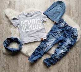 T-shirt Genius szary MIMI