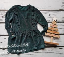 Sukienka Shine butelkowa zieleń