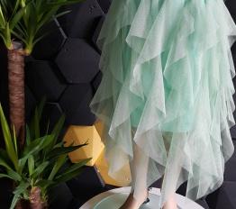 Spódnica tiulowa midi żywa mięta