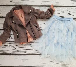 Spódnica tiulowa midi błękit