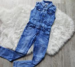 Kombinezon jeansowy guziki