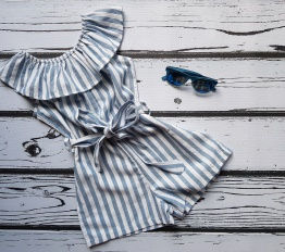 Kombinezon letni espana blue Stripes