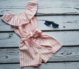 Kombinezon letni espana pink Stripes