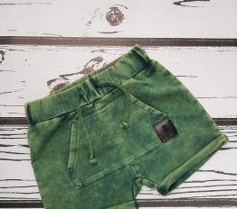 Szorty Despacito z kieszenią dekatyzowane zieleń
