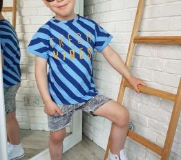 T-shirt Fresh Vibes niebieski