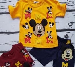 Komplet Mickey Letni żółty