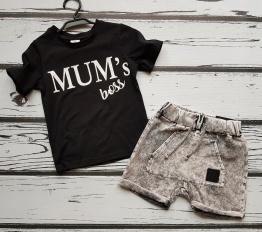 T-shirt Mum's boss czarny