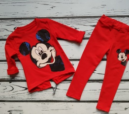 Komplet Mickey czerwień