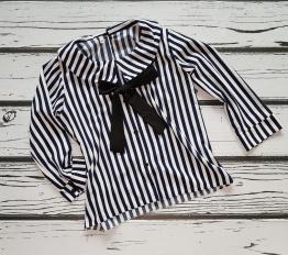 Koszula z kokardą Navy Stripes