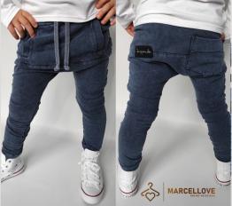 Spodnie Despacito dekatyzowane Back Pocket granat