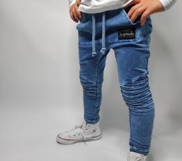 Spodnie Despacito dekatyzowane classic niebieskie