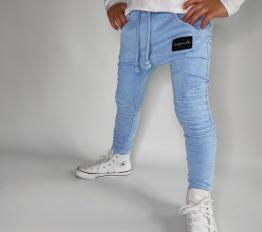 Spodnie Despacito dekatyzowane classic błękitne