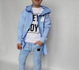 Bluza Despacito dekatyzowana classic błękitna