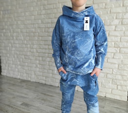 Bluza dekatyzowa Despacito batik niebieska