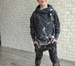 Bluza dekatyzowa Despacito batik czarna