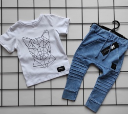 T-shirt  geometryczna puma biel