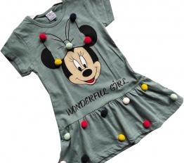 Sukienka Minnie wonderful girl pistacja