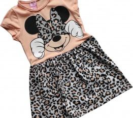 Sukienka Minnie animal brzoskwinia