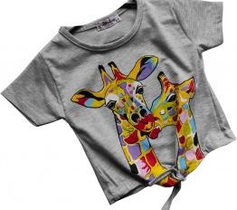 T-Shirt Giraffe szary