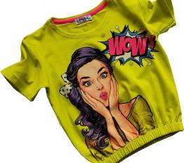 T-Shirt WOW neon