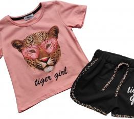 Komplet Tiger Girl róż