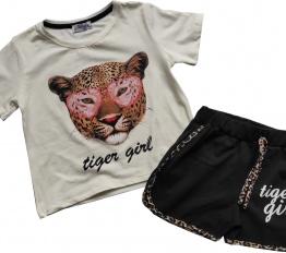 Komplet Tiger Girl śmietanka
