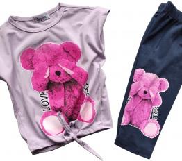 Komplet Pink Bear lila