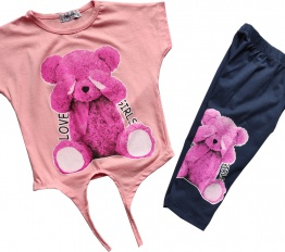 Komplet Pink Bear puder