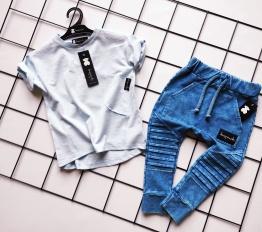T-shirt Despacito Basic błękitny