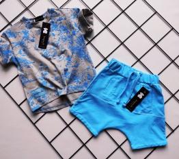 T-shirt Despacito Farba Fluo niebieski