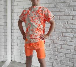 T-shirt Despacito Farba Fluo pomarańcz