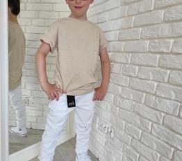 MashMnie camouflage spodnie  boyfriend unisex białe