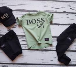 T-shirt nietoperka boss boy mięta