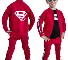 Komplet  Super  Synek czerwony