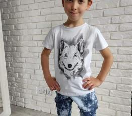 MashMnie  Under the City tshirt wolf biały