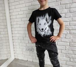 MashMnie  Under the City tshirt wolf czarny