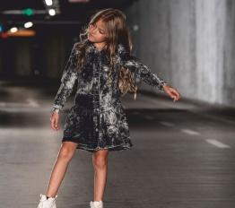 MashMnie Under The City sukienka szmizjerka jeansowa black