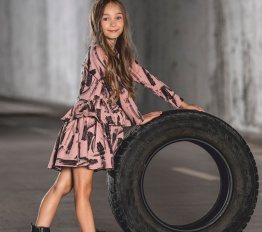 MashMnie Under The City sukienka brush różowa