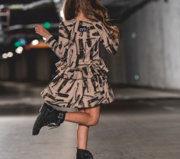 MashMnie Under The City sukienka brush beżowa
