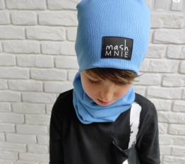 Mashmnie czapka niebieska