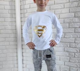 Bluzka super synek biały Style Kids