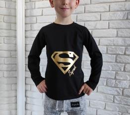 Bluzka super synek czarny Style Kids