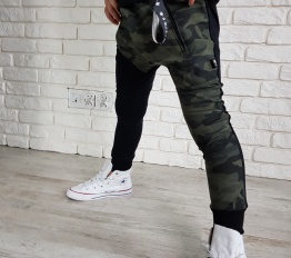Spodnie street boy moro ocieplane