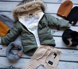 Kurtka zimowa Style Kids khaki