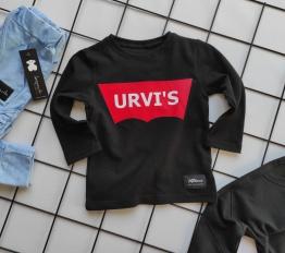 Bluzka Urvi's czerń + czerwień mikoo